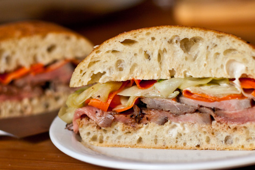 asian grilled beef sandwich